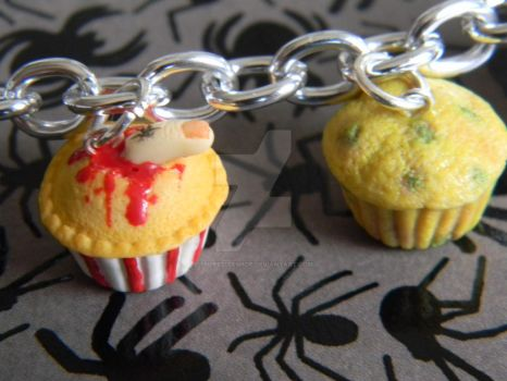 Finger Food And Mold-tastic Cupcake-Polymer Clay- by ThePetiteShop