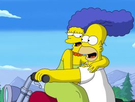 Homer Simpson and Marge Simpson by Spartandragon12