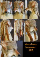 Maned Coyote/Red Wolf LARP Mask by Magpieb0nes