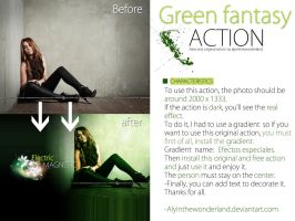Green fantasy action by me by alyinthewonderland