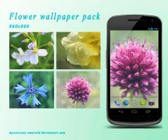Flower wallpaper pack by mysterious-emerald