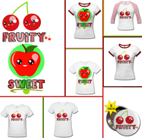 FruityAppleAndCherry-T-shirt- by NeonGenesisEVARei