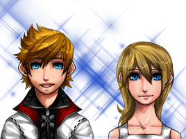 Roxas and Namine by Pharos-Chan