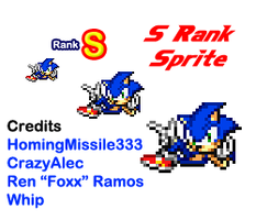 Modern Sonic S Rank Pose Sprite by HomingMissile333