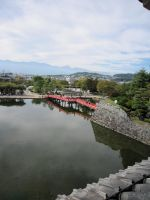 View from Matsumoto Castle by Elliums
