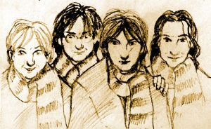 The Marauders in scarves by HPID