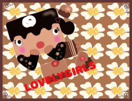 Choco-cake Wallpaper 2 by mymelody1