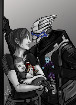 Commission - A Family Outing by Rossilyn
