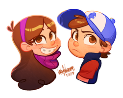 Mystery Twins by wnorazura