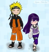 NaruHina by agrias colored by Quel-chan