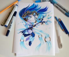 Chibi Frost Queen Janna by Lighane