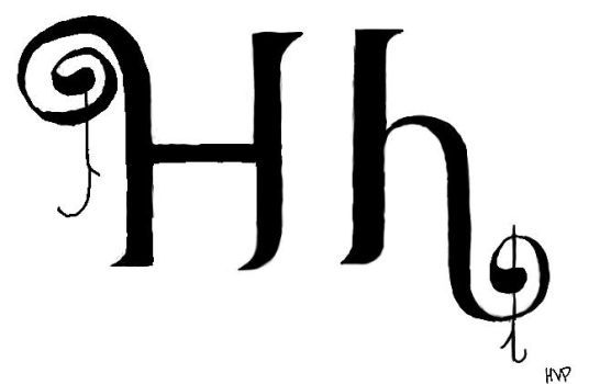 Calligraph Series: H by ilovedaggers