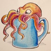 octopus coffee by whatclaptrap