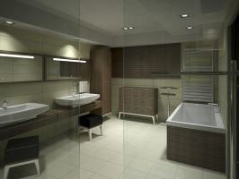 Bathroom Viz - Night - 2 by zipper