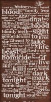 Bloodlines Typographic Poster by jKendrick