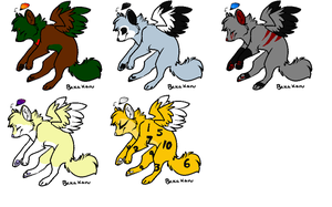 Free Flying Wolf Adoptables (CLOSED) by DetritusDroid