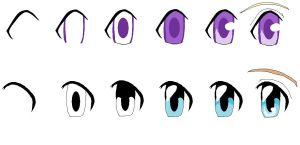 My two ways of drawing eyes by JingelChan