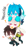 [Render #13] Shintaro, Konoha and Ene by sandrareina