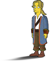 Guybrush Simpsons style by Irishmile