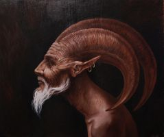 Traditional Art - Satyr by MeWannaLearn