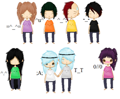 Emoticon Chibis .:closed:. by MisoriFire
