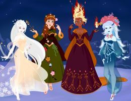 The four great queens by CleopatraDiNekomata