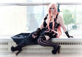 Luka Megurine: Lace Stockings by DMinorDucesa