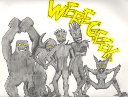 Weregeek Were-forms by chaoticpeace1