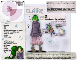 Claire Refrence Sheet by EDsnowydragon