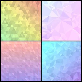 Low Poly Vector Backgrounds by Kaleiope-Studio