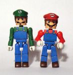 Mario and Luigi Custom Minimates by luke314pi