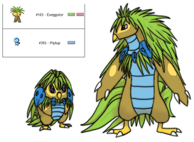 Fakemon Fusion Grass/Water by Eternity9