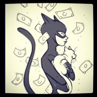 Quick Catwoman sketch by Douglasbot