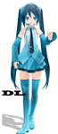MMD Sophisticated Miku DL by deangagaTR