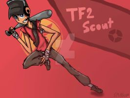 TF2 RED scout by FelineOC-Alice
