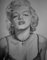 Marylin Monroe Charcoal by SCRUBZLOTUS