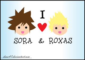 I LOVE SORA AND ROXAS by dana47