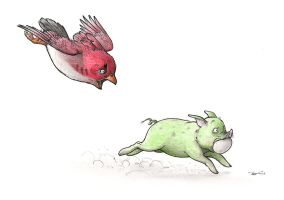 ANGRY BIRDS by RobtheDoodler