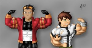 Ben 10 and Generator Rex by RAYDART77