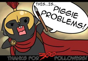 300 Followers! by Foxy-Sketches