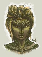 Sylvari portrait by theDeathspell