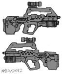 M91 Caseless Service Rifle - ROUGH by Great-5