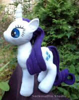Rarity Plush by sockmuffin-studios
