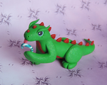 Green Candy Cane Dragon by KuddlyKreatures