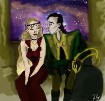 Loki x Sigyn: colored by Rebeckles