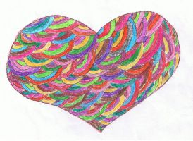 Colored Scale Heart. by Shankress