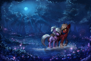 In The Moonlight of Everfree by TheNeoStrike