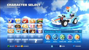 Rainbow Dash and All-stars Racing Transformed by 2007excalibur2007