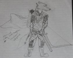 Medieval Wolf Archer- doodle by WhyteHawke