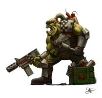 Space ork commandos by Goramitrio